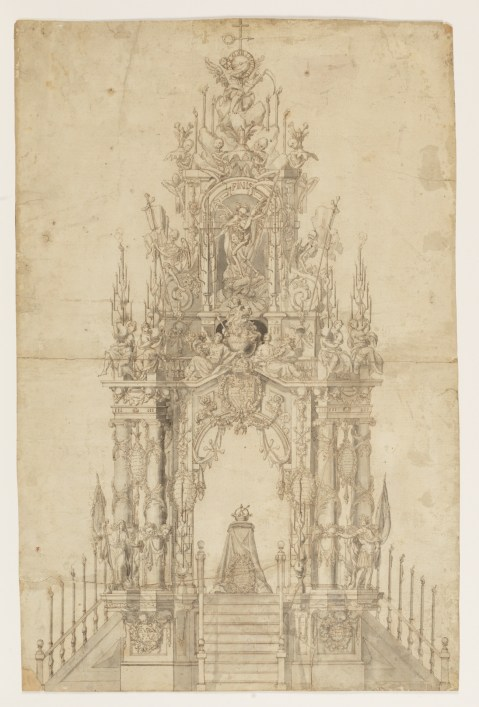 Teodoro Ardemans. Catafalco para Carlos II. Madrid. Museo del Prado.