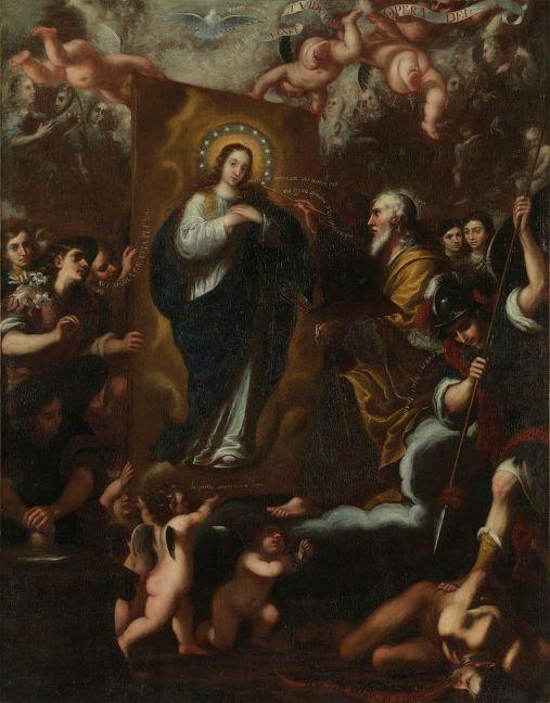 García Hidalgo. Dios Padre pintando la Inmaculada Concepción. Museo del Prado