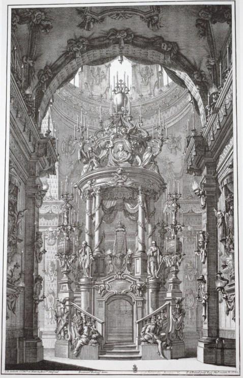 Giovanni Battista Sachetti (traza). Túmulo para Felipe V en la Encarnación. 1747.