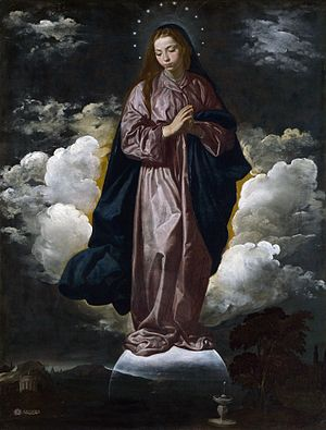 Diego Velázquez. Inmaculada. ca. 1618. Nat. Gallery. Londres. Foto: wikicommons.