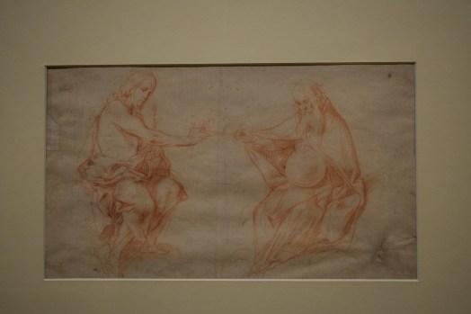 Estudio de figuras de Cristo y Dios Padre. Museo de Bellas Artes de Córdoba