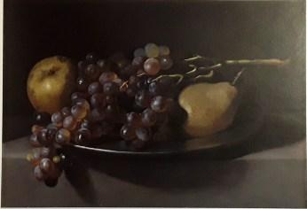 Giovanni Battista Crescenzi. Bodegón con uvas y peras. colección privada.