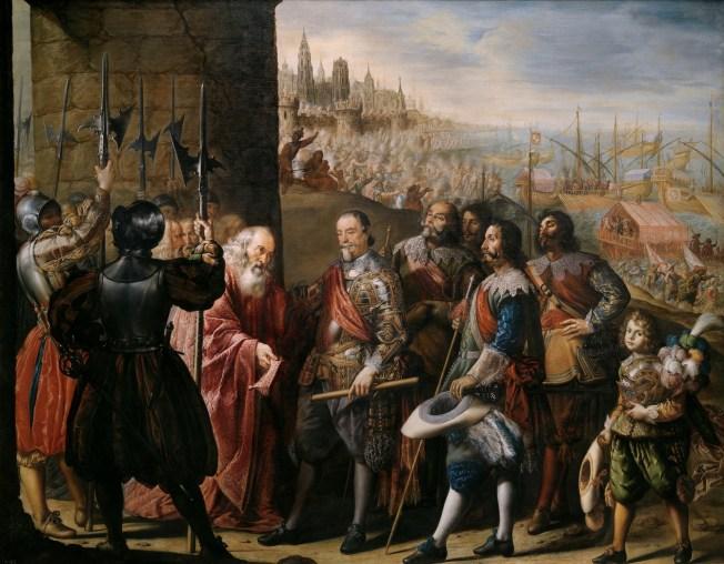 Antonio de Pereda. Socorro de Génova por el II marqués de Santa Cruz. ca. 1635. Museo del Prado.