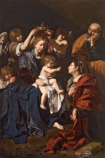 Bartolomeo Cavarozzi. Sagrada familia con Santa Catalina. ca. 1617-19. Museo del Prado.