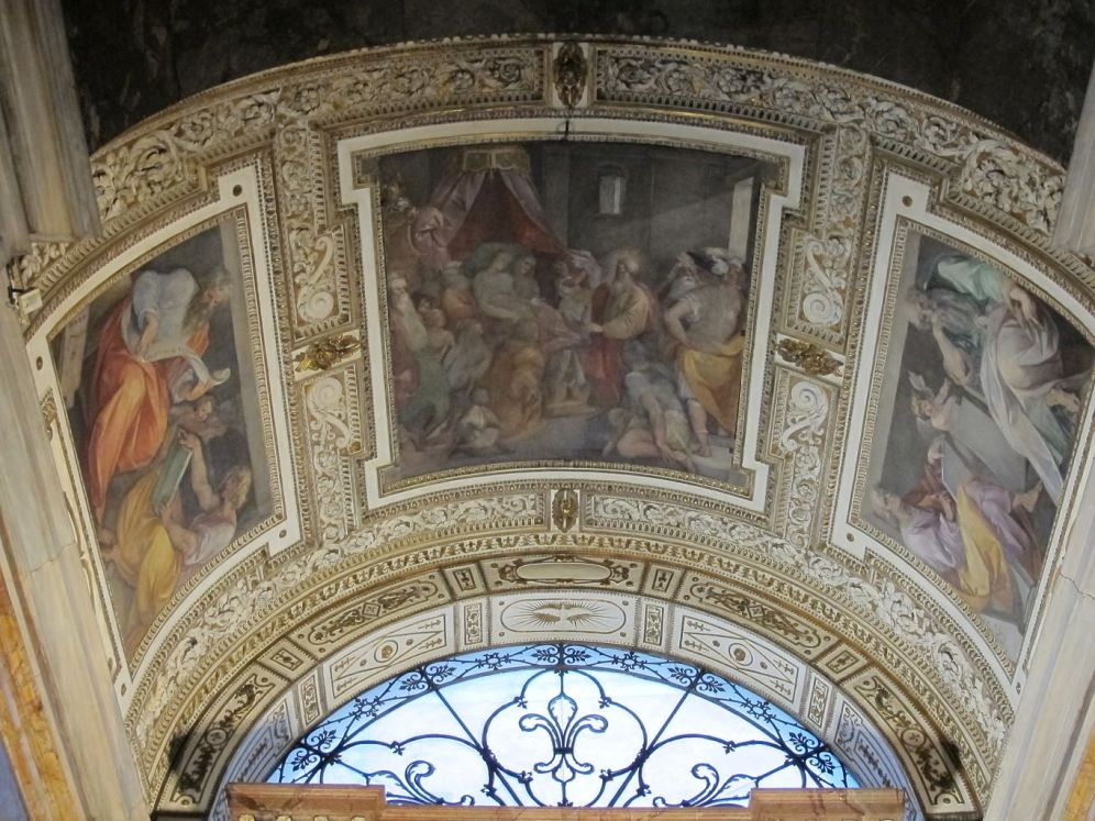 Caballero de Arpino. Detalle de los frescos. Foto: wikicommons