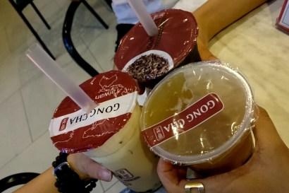 Trà sữa GongCha ở SM Mall hoặc Marqueel Mall