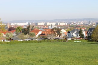 View of Dresden from the southern part of the city.