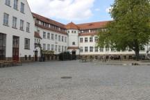 The inner yard of the old furniture manufactory in Hellerau.