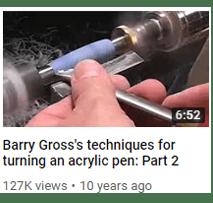 Acrylic Lathe Tools