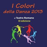 Disegno di cinque danzatrici in cerchio - logo de I Colori della Danza