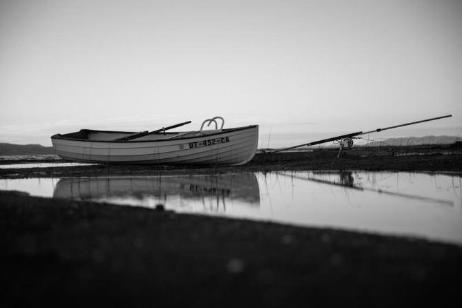 Fishing Boat BW