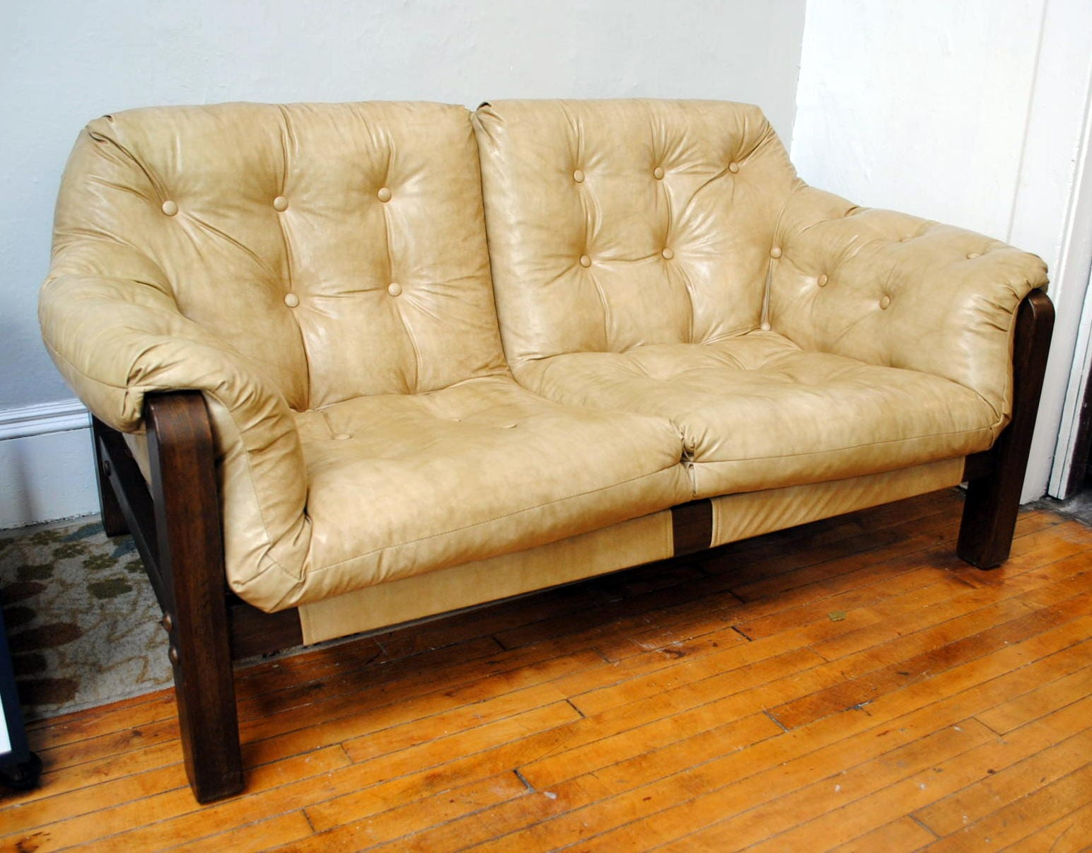 percival lafer sofa bonded leather repair mid century style sling circa