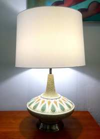 Mid Century Genie Table Lamp   Circa