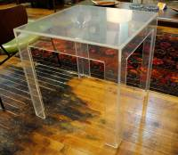 Mid Century Modern Lucite side Table | Circa