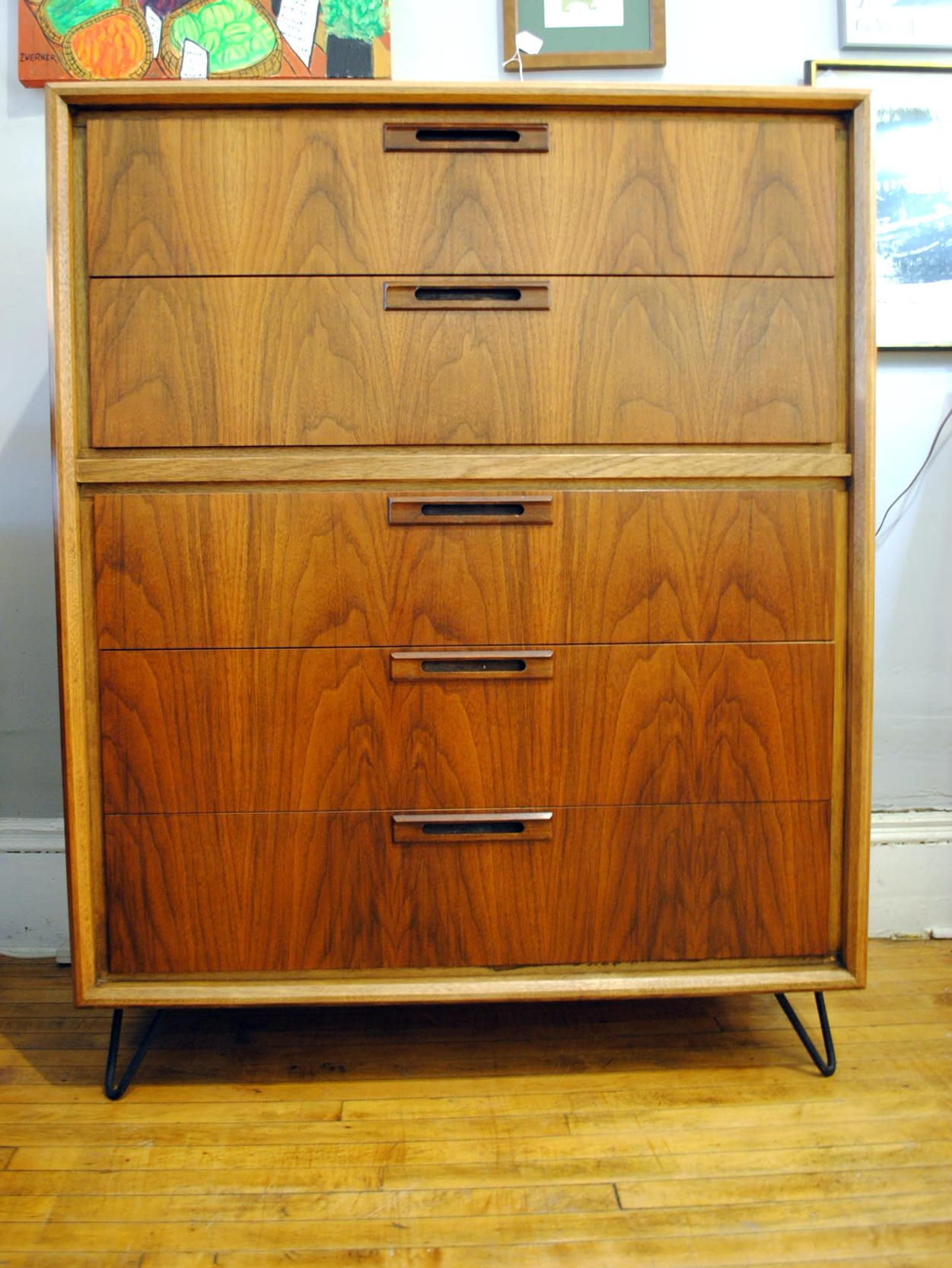 mid century tall chest newly refinished