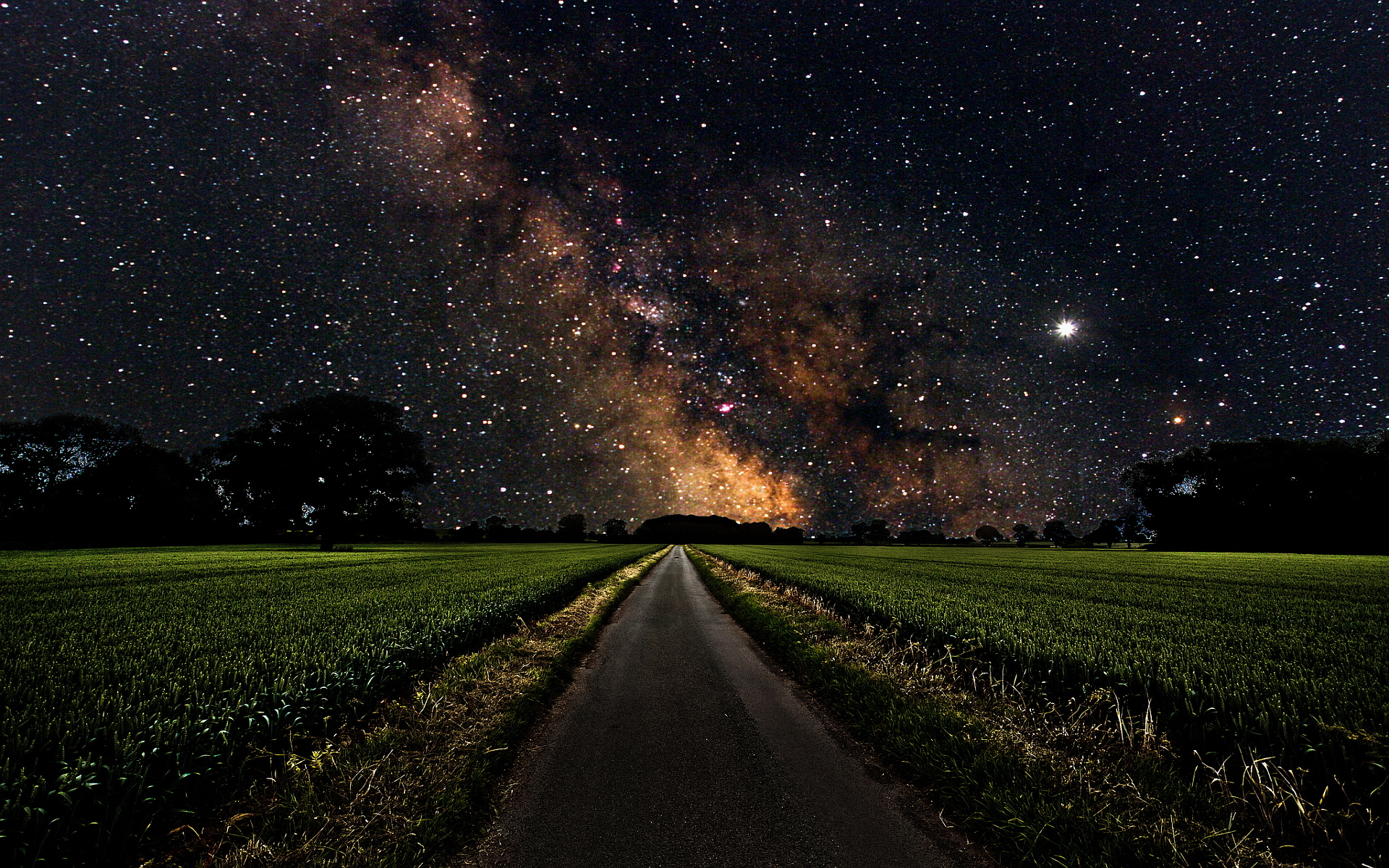 space-stars-road