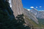 Half Dome from Up Ysmt Fall Trail Highest point
