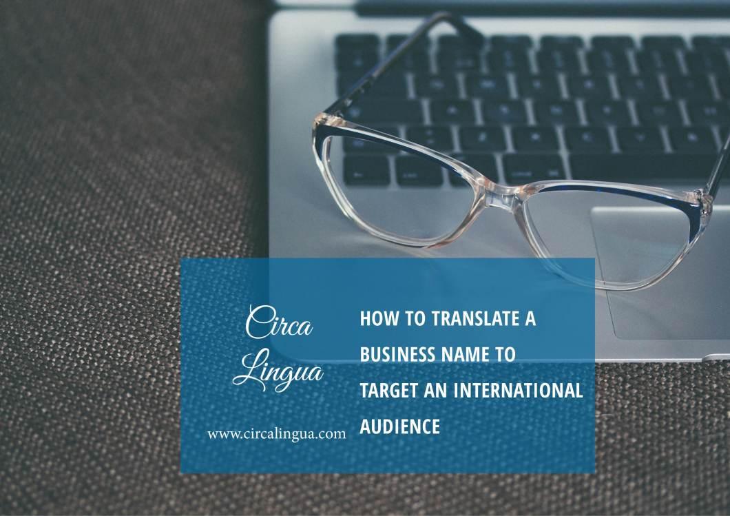 translate a business name