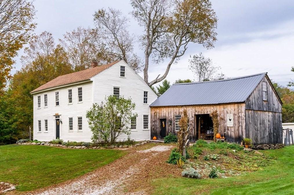 1757 William Thrasher House In New Braintree Massachusetts