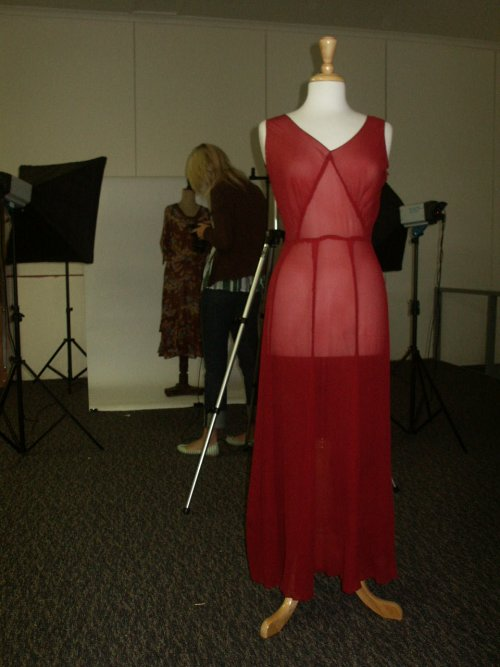 30s burgundy silk gown