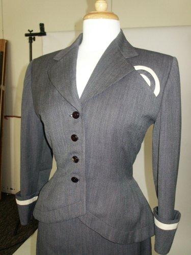50s grey suit