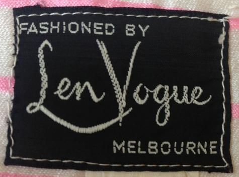 Len Vogue label