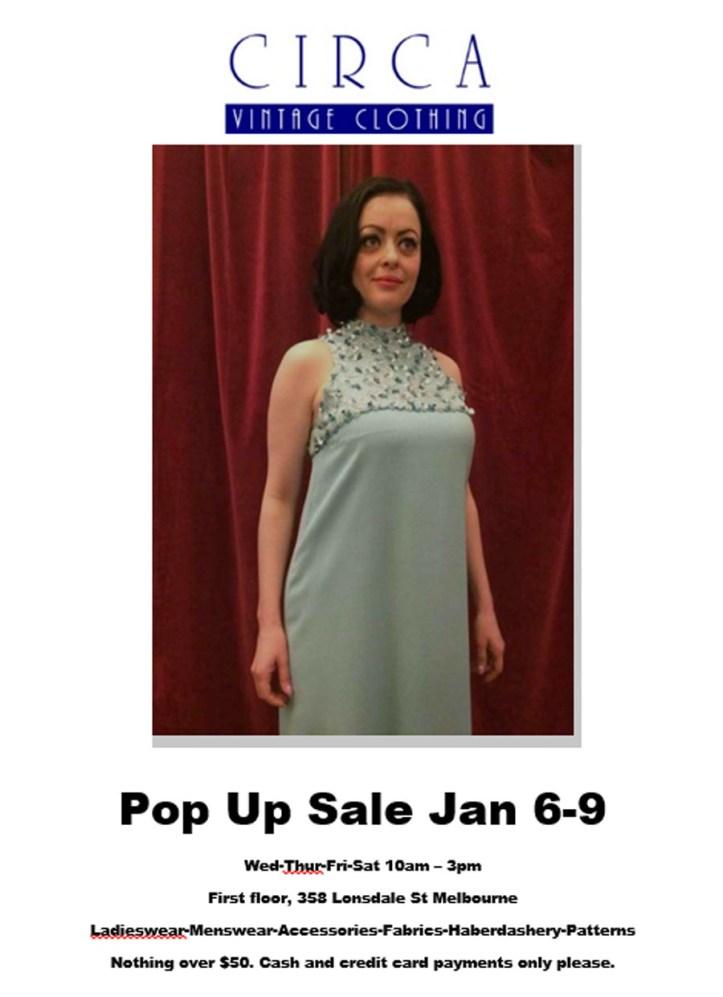 Pop Up Sale Jan 6 2016