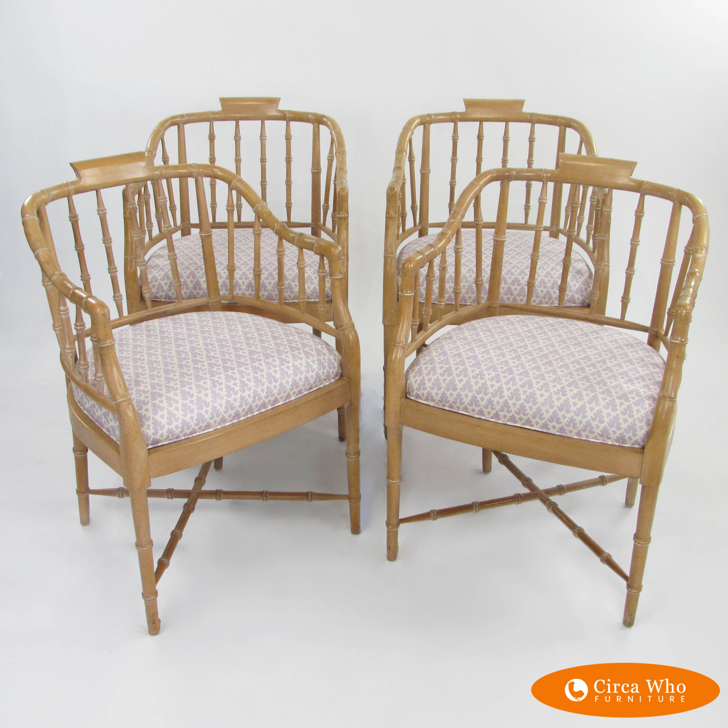 Bamboo Chairs Set Of 4 Faux Bamboo Chairs