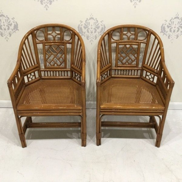 bamboo chairs folding beach canada pair of brighton style rattan circa who
