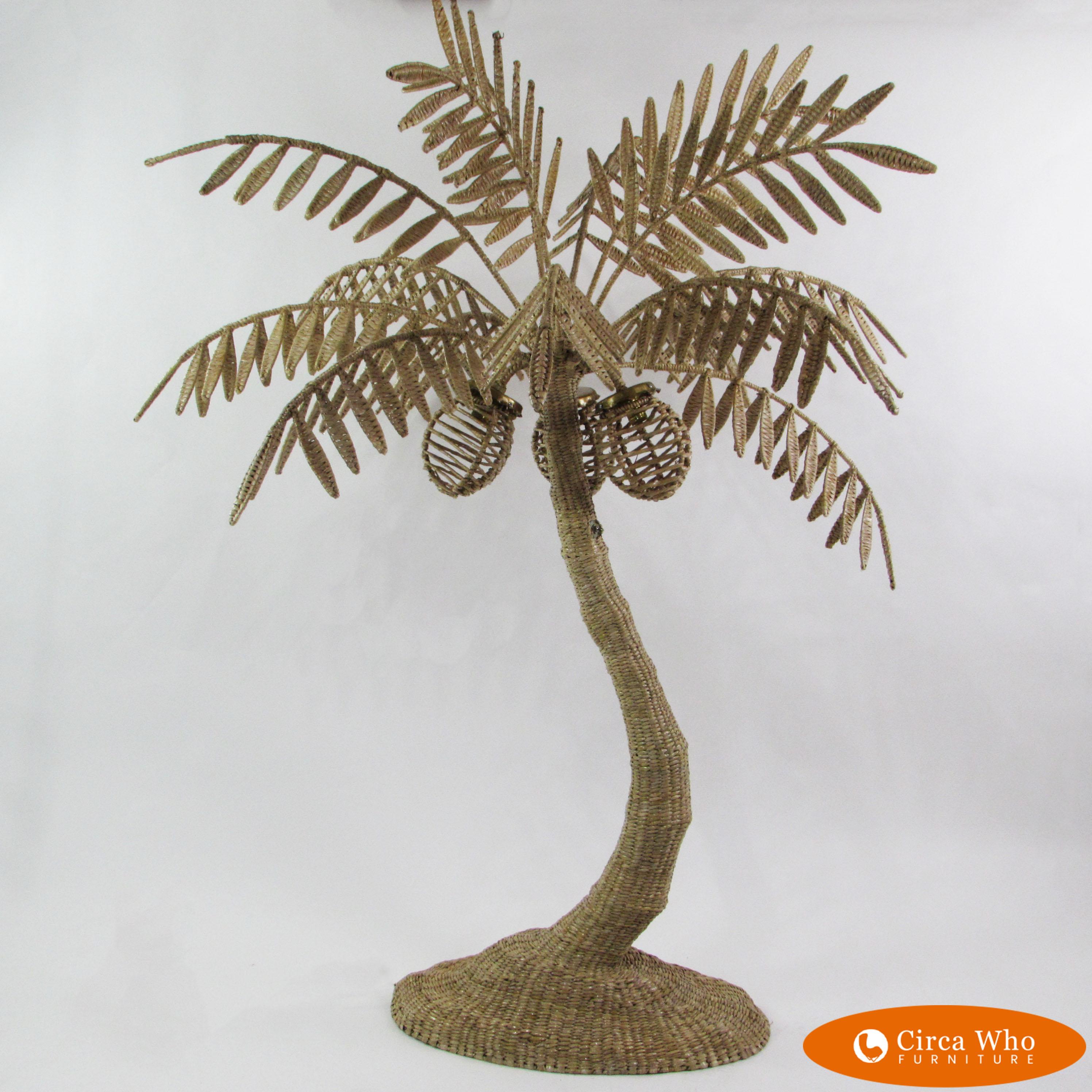 0647f6e703155 Woven Rattan Palm Tree Floor Lamp by Mario Lopez Torres – Circa Who