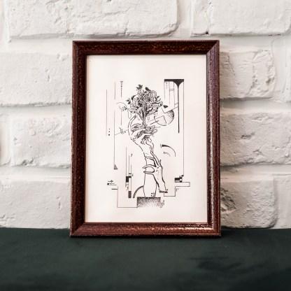 Veille et éveille oeuvre originale galerie d'art Rouen galerie d'art en ligne