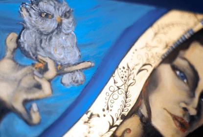 noctua peinture à l huile à la galerie dart rouen