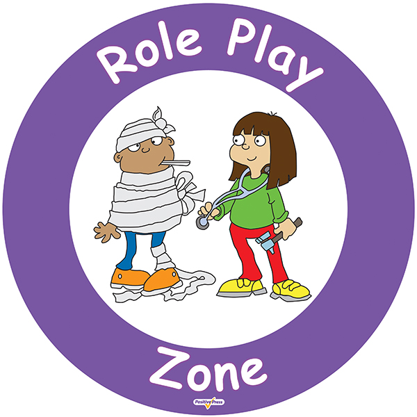Jenny Mosley's Playground Zone Signs  Role Play Zone Sign