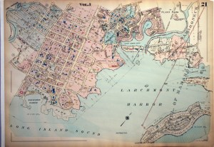antique map larchmont