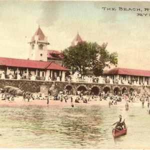 #1371 The Beach, Rye Park 1910