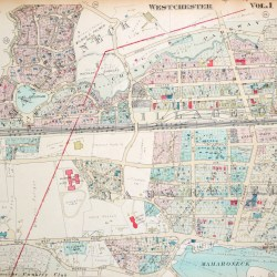 antique map larchmont