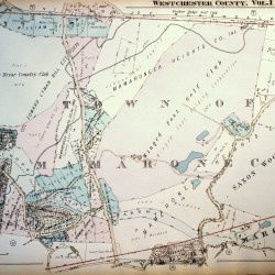 antique map mamaroneck winged foot