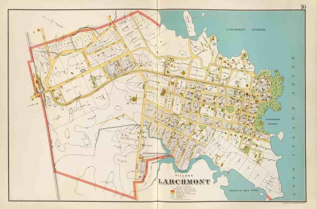 antique larchmont map