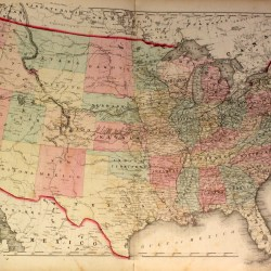 antique map united states
