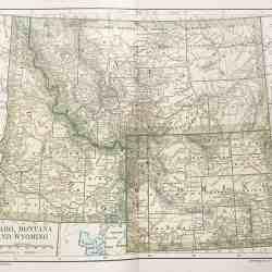#3273 Idaho, Montana & Wyoming 1891