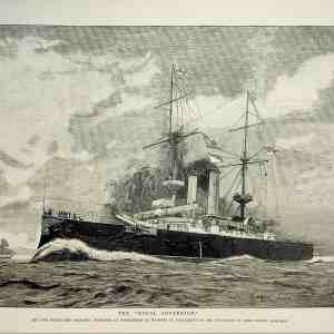"#1078 ""The Royal Sovereign Battleship"", 1892"