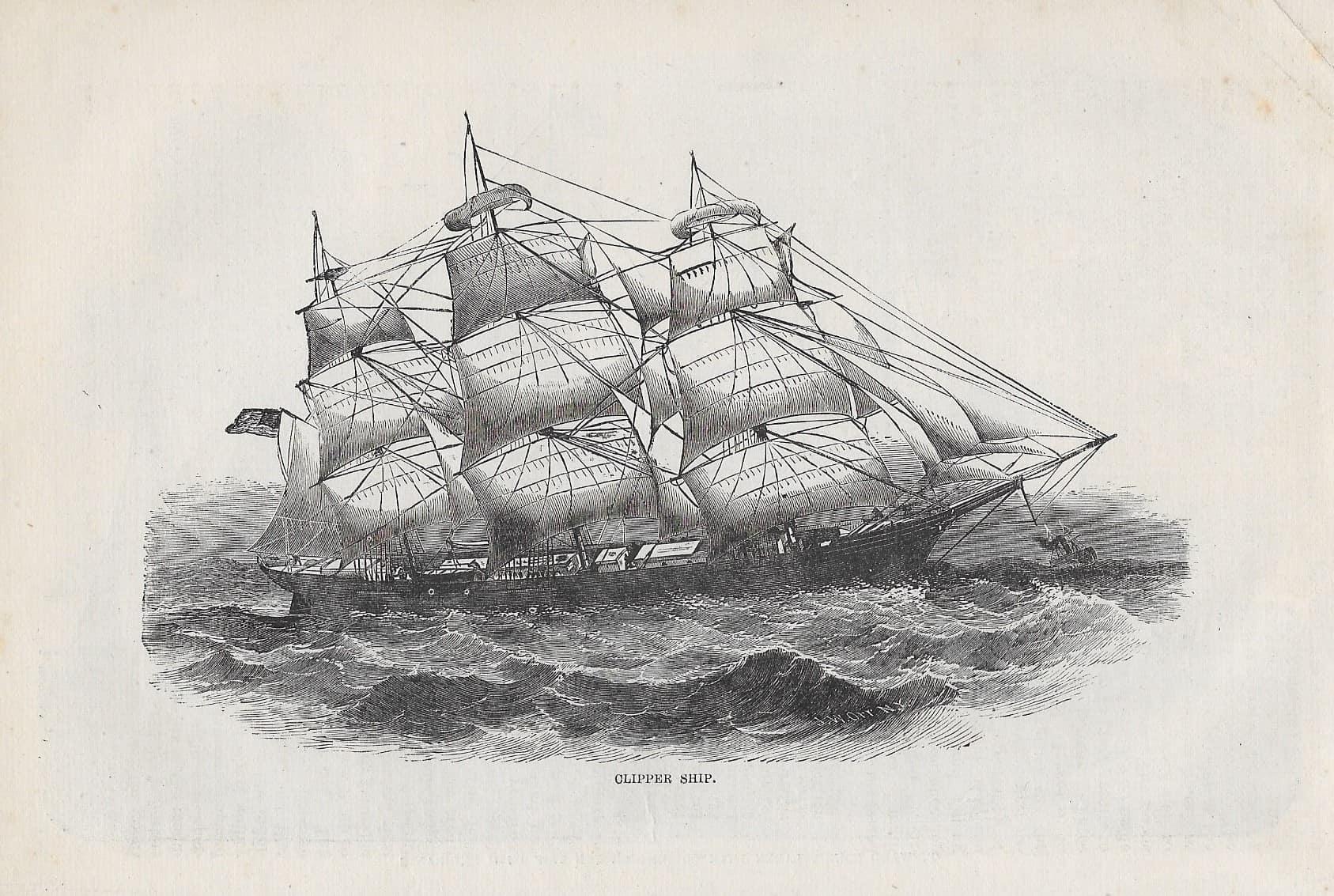 #4234b mid1800s Clipper Ship