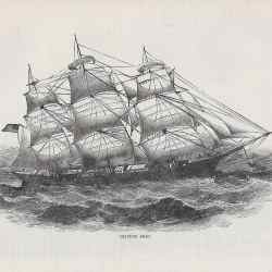 #4234b mid1800s Clipper Ship
