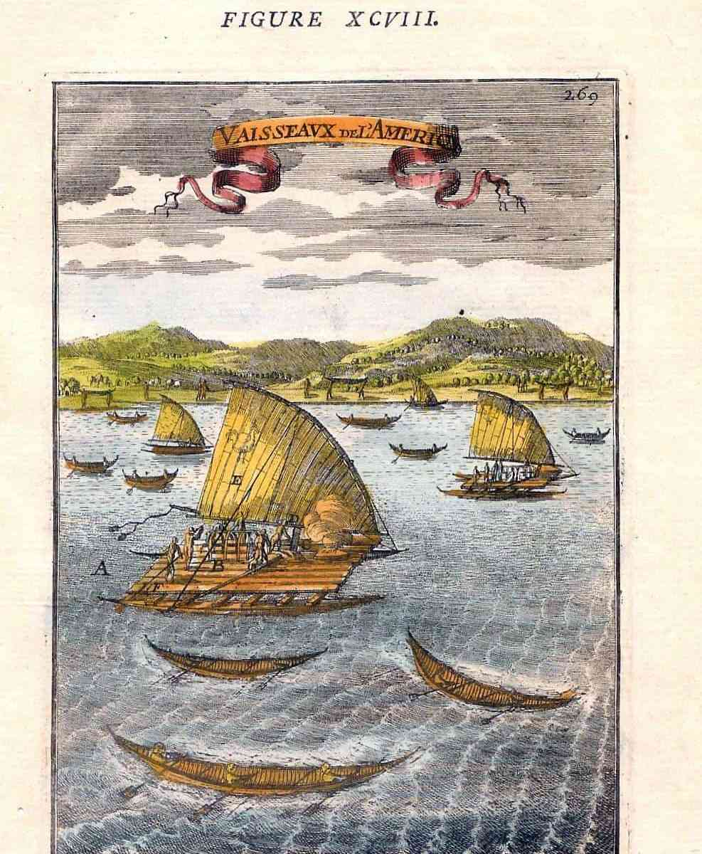 #584 mallet americas ships and boats 1683