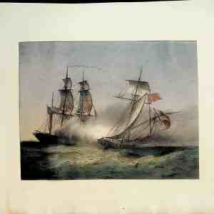 "#692 ""Sea Battle"", early/mid 1800s"
