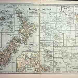 #4369 New Zealand & Islands of the Pacific Ocean, 1903