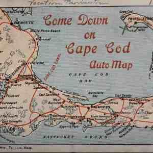 #5287 Cape Cod Auto Map, 1919
