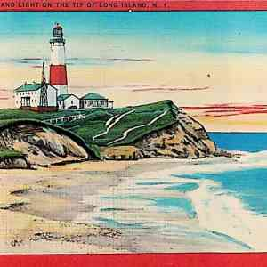 #5482 Montauk Point and Light, 1956