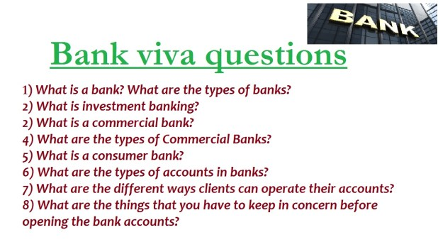 Common Bank interview Questions