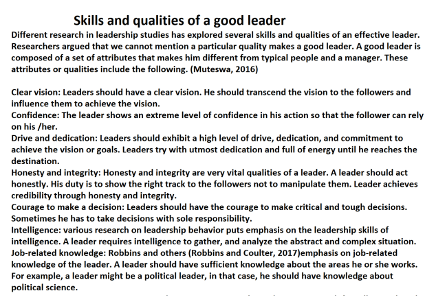Importance of Leadership and Management Skills